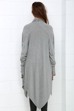 Willow in the Wind Grey Sweater Top at Lulus.com!