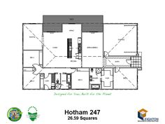 Leighton Building & Construction - Houghton 247 (single storey, 26.59 sq) 4 bedroom house plan with 9 star energy efficiency
