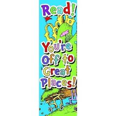 Eureka Dr. Seuss Bookmarks, Set of 36, Oh The Places (834311)