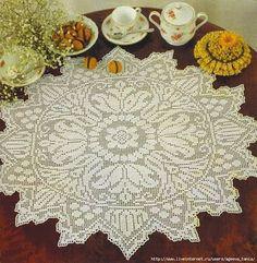 Crochet tablecloth | Crochet Knitting Handicraft | Bloglovin'