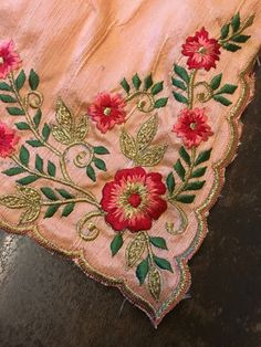 Embroidery Suits Punjabi, Embroidery On Kurtis, Hand Embroidery Dress, Kurti Embroidery Design, Embroidery Works, Embroidery Fashion, Diy Embroidery Patterns, Machine Embroidery Designs, Punjabi Suits Designer Boutique