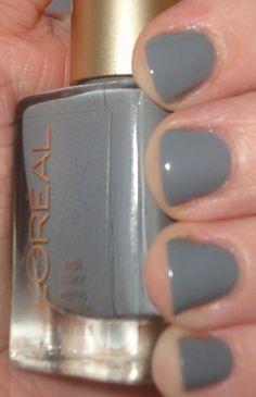 L'Oreal Greycian Goddess - my new nail color, courtesy of @Barbara Fox  - LOVE IT.