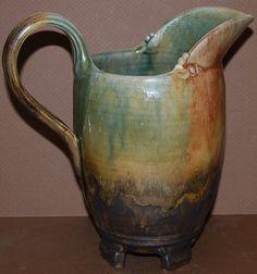 Handmade Stoneware Pitcher by BuckRunPottery