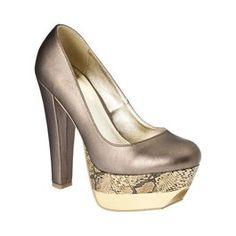 2cf0f6c4956 Xhilaration Skylah Platform Pump - Gold w  Snakeskin Print Killer Heels