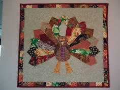 Gobble Gobble! Scrappy Dresden Turkey Wall hanging