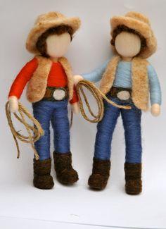 Items similar to Boys Room Decoration Needle Felted: Cowboy . Made to order on Etsy Nursery Room Decor, Boys Room Decor, Wet Felting, Needle Felting, Silhouette Art, Waldorf Dolls, Dollhouse Dolls, Fairy Dolls, Felt Dolls