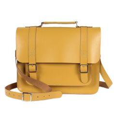 Handmade Leather Mustard Boho Briefcase Satchel | Bohemia Design - Bohemia Design