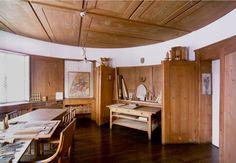 study room, triangular wardrobe, jože plečnik Interior And Exterior, Interior Design, Cottage Interiors, Future House, Slovenia, Flooring, Studio, Vignettes, Inspiration