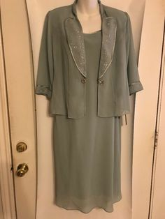 1df7956d17db NEW Dana Kay Mother of the Bride Size 8 Mint Green Dress Embellished Jacket  NWT