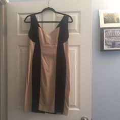 A Black and Tan dress Black and Tan dress Color blocking XOXO Dresses