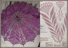 Crochet Umbrellas Archives - Beautiful Crochet Patterns and Knitting Patterns Filet Crochet, Crochet Motifs, Thread Crochet, Crochet Doilies, Crochet Stitches, Knit Crochet, Crochet Round, Purple Umbrella, Lace Umbrella