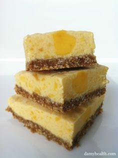 Skinny Mango Cheesecake Bites (no-bake, gluten free)