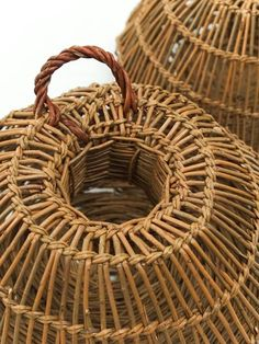 Woven baskets - my grandfather did them, maybe a reason why I love baskets so much.