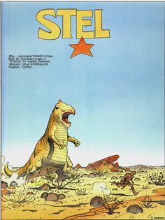 """Moebius 1992 - First page of STEL """"Edena's world"""" - Editions Casterman, Paris 1994"""