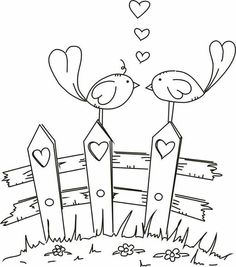 Freebie Digital Love Birds Stamp Blackline Birds Images Coloring Books And Art Color Therapy Anti Stress Coloring Stock V Colouring Pages, Coloring Books, Kids Colouring, Colouring Sheets, Free Coloring, Embroidery Patterns, Hand Embroidery, Machine Embroidery, Love Birds