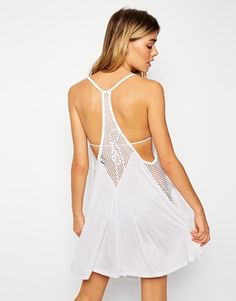 Buy ASOS Fishnet Swing Beach Dress at ASOS. With free delivery and return options (Ts&Cs apply), online shopping has never been so easy. Get the latest trends with ASOS now. Woman Back, Ss 15, Summer Outfits, Summer Clothes, Fishnet, Beachwear, Fashion Online, Asos, Lingerie