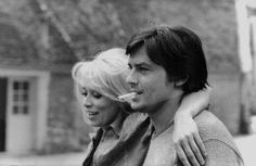 Alain Delon and Mirelle Darc. He recently said she knows him better than anyone.