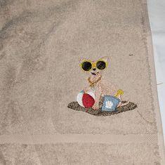Dachshund Dog Hand Towel, Embroidered Towel, Dog Gift, Dog Towel by  FoxCraftSuppliesuk on