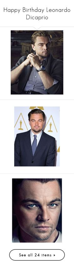 """""""Happy Birthday Leonardo Dicaprio"""" by rebeca-mcqueen ❤ liked on Polyvore featuring home, home decor, bw, people, black and white, extras, items, pictures, photos and boys"""