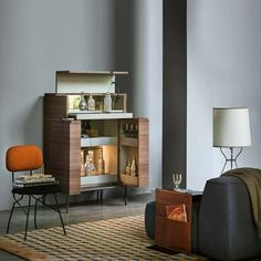 Contemporary bar cabinet / in wood / metal / by Christophe Pillet WINSTON  LEMA Home