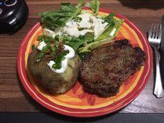 [homemade] Steak Caesar Salad & Baked Potato http://ift.tt/2jVotJ4