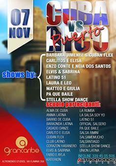 Sabato 7 novembre 2015 all'Altromondo Studios arriva l'evento più atteso da tutti i fan della musica salsa: Cuba Versus Puerto Rico.