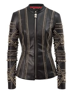 """leather jacket """"can't you see"""" - Jackets - Clothing - Women 
