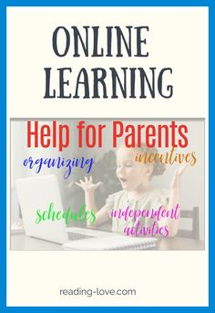 Online learning help for parents will help parents with online learning sucess! These ideas will help you have discussions with your child so that you organize your online learning day, create schedules, come up with a list of independent activities after the online learning, and make incentives and rewards! Educational Activities, Learning Activities, Kids Learning, Reading Skills, Writing Skills, Parenting Teens, Kids And Parenting, Reading Incentives, School Week
