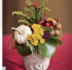 Real Weddings - A Rustic Autumn Wedding in Tuckasegee, NC - Fall Wedding Centerpieces Fall Wedding Flower Inspiration, Fall Wedding Flowers, Autumn Wedding, Autumn Inspiration, Wedding Bouquets, Party Table Centerpieces, Fall Wedding Centerpieces, Centerpiece Ideas, Wedding Table