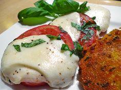 Tomate - Mozzarella Teller, überbacken