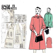 50s Swing Coat sewing pattern Vintage by allthepreciousthings, $12.00