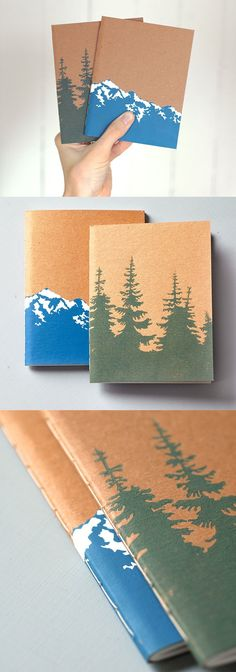 Mountains and Pines Notebooks