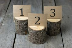 Country Rustic Wedding Table Numbers by ThePinkBunnyWeddings