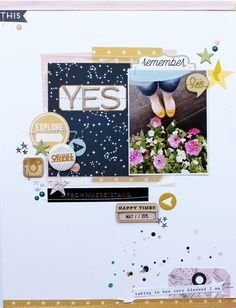 Scrapbooking Ideas | Scrapbook Layout | 8.5X11 Page | Creative Scrapbooker Magazine #scrapbooking #8.5x11layout