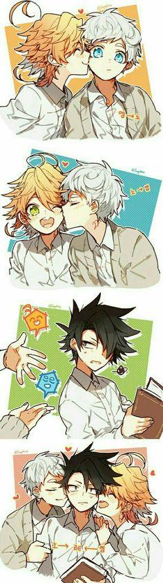 Schön 😍 - The Promised Neverland - Babysitting Manga Anime, Fanarts Anime, Otaku Anime, Anime Art, Anime Love, Anime Guys, Anime Lindo, Anime Kawaii, Animes Wallpapers