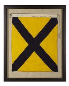 Signal Flag Five - Numeral Five #WilliamsSonoma