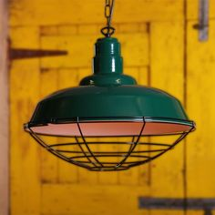 The Cobal Powder Coated Industrial Pendant reflects strong sensibilities of industrial style. This contemporary pendant light is a perfect addition to interiors with limited space, such as hallways, cloakrooms and utility spaces. #industrialpendant #pendantlight #cagelighting #ceilinglight #suspensionlamp