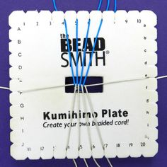 This 10 cord kumihimo flat braid is an alternative to the more common flat braid. It works up into a firm, chunky braid and is easy to learn.