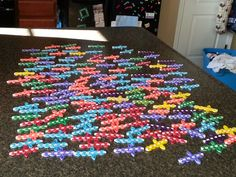 This is what 150 crosses for missions work looks like...yes I had help!!!