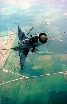 RAF English Electric Lightning - RAF Binbrook in the background. This image used to be on my bedroom wall in the 80s.