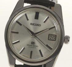 Seiko 5722-9990 Men's Grand Seiko Antique Date hand rolled outside leather belt #SEIKO