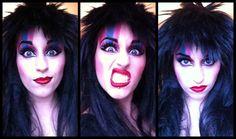 Being Elvira, Mistress of the Dark. #Elvira #glam #ghoul #horrorqueen #makeup #beauty #dollywood #dolly8wood