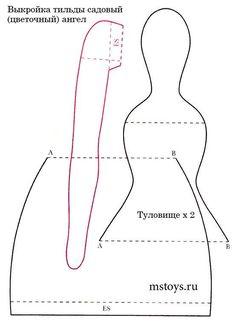 Выкройка тильда в натуральную величину: кошка, заяц и кукла игрушка-сплюшка - смотреть видео (видео)