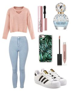 """""""happy valentine's day ❤"""" by aliclm ❤ liked on Polyvore featuring Burberry, Casetify, Marc Jacobs, Too Faced Cosmetics, adidas Originals, WithChic and Topshop"""