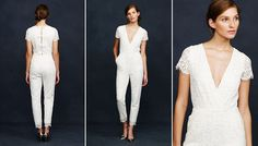 J. Crew's bridal jumpsuit is the hottest new wedding trend of 2014♥️Might be great for rehearsal dinner