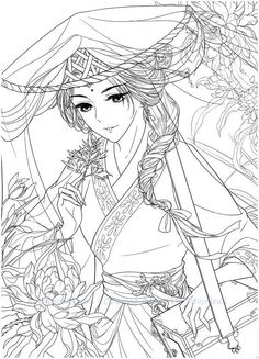 Instant Download DadaCat Chinese Portrait Coloring Page PDF!High quality images fit on A\45 paper. Over 200 printable coloring books available #chinese #gugeli #coloringbook #coloringpage #coloring #anime #mystica #aeppol #momogirl #koreacoloring #download #ebook #coloringpage #classic #dadacat