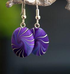 Swirl earrings by Beadelz polymer crea's, via Flickr