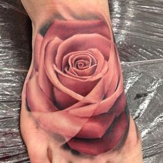 Gorgeous Rose Tattoo By John Anderton, Nemesis Tattoo Studio