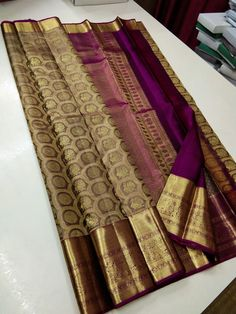 Saree Tassels Designs, Cotton Saree Designs, Pattu Saree Blouse Designs, Bridal Blouse Designs, Bridal Sarees South Indian, South Silk Sarees, Bridal Silk Saree, Pattu Sarees Wedding, Designer Sarees Wedding