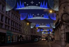Christmas lights in Brighton, 2014
